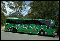 Oz Experience bus in the Blue Mountains