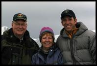 Chuck, Barb & Matt aboard the Polar Star