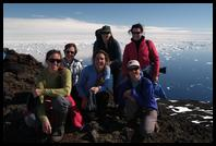 On the summit of Paulet Island (1,223´)