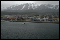 The Polar Star steaming away from Ushuaia