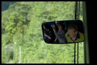 Tourist bus review mirror