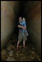 Richard & Jordan in a cave