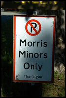 Morris Minor Parking Only Sign