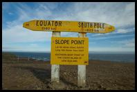 Slope Point, the southernmost point of the South Island