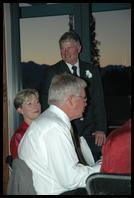Leah´s father, Colin giving his wedding speech