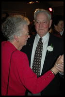 Grandparents dancing at the reception