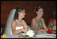 Leah & Jo at the reception