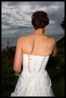 The back of Steph´s wedding dress