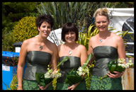 Bridesmaids: Kathy, Kirsten and terena
