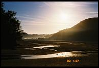 Just after sunrise on the north side of Awaroa Inlet