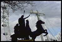 Statue cross from the London Eye