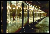 Train in St. Pancras Station at 3am