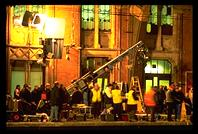 Film Crew in St. Pancras Station at 3am