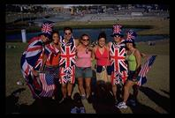 Brits with American Girls in the Olympic Park