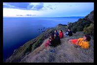 Watching the sunset from the north end of Kapiti Island