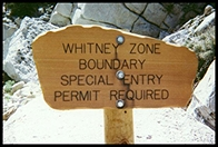 Mt. Whitney Zone Sign