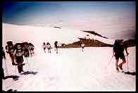 On the snowfield below Camp Muir