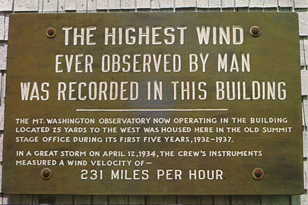 World-record wind sign on the summit