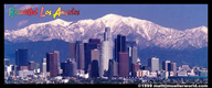 Los Angeles postcard with Mt. Baldy in the background