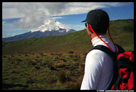 Bruce looking at Cotopaxi