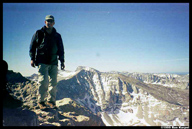 Matt on the summit of Mt. Tyndall (14,018)