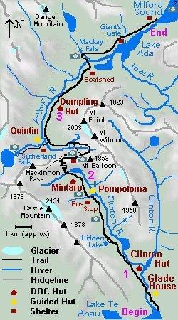 Milford Track Maps Muellerworld